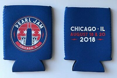 Pearl Jam wrigley field coozie chicago 2018 tour cubs baseball kookie can cooler