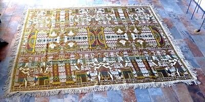 Vintage 1920s Large Egyptian Revival Tapestry Piano Shawl