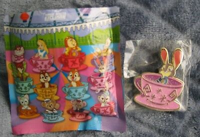 Disney Pin Hong Kong HKDL 2017 Mad Hatter Tea Cup Magic Access Exclus JUDY HOPPS