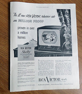1950 RCA Victor TV Television Ad   Shelby