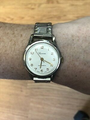Vintage 1960's Lucerne Calendar Unisex Wrist Watch WORKING   150