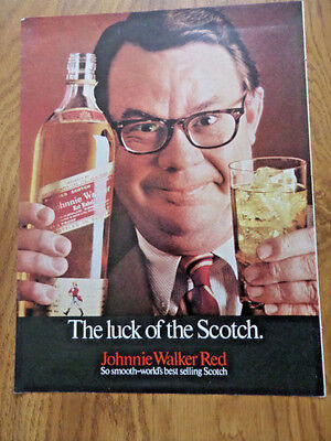 1969 Johnnie Walker Red Whiskey Ad  The Luck of the Scotch