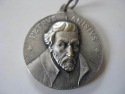 "Petrus Canisius"" Medaille Anhänger silber"