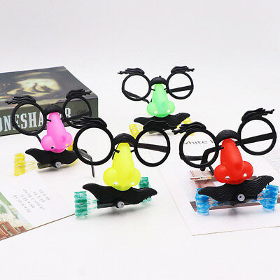Funny Novelty Eyebrow Glasses with Large Nose Mustache Costume Performance Props