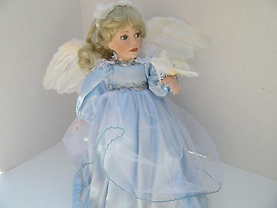 """Angel Of Peace Collector Porcelain Doll """"heaven On Wings""""  By Patricia Rose"""