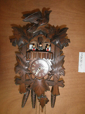Cuckoo Clock NIGHT SHUT OFF Black Forest Herr SEE VIDEO Musical 1 Day CK2030
