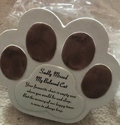 Cat Memorial Plaque Paw Shaped Gift In Memory Of