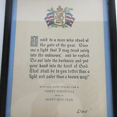 Religious Poem M L Haskins Gate of the Year King George VI Christmas 1939