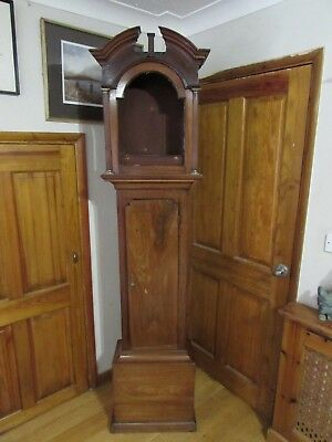 George III Mahogany Grandfather Longcase Clock Case 209cm