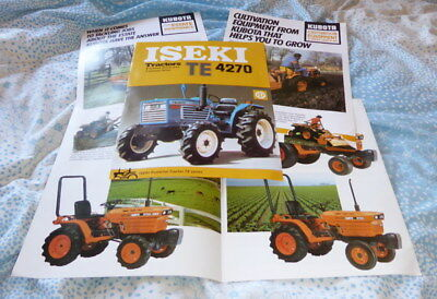 Job lot of brochures for Kubota and Iseki compact tractors circa 1980's
