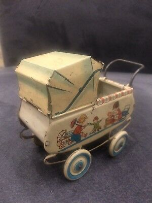 ALTER PUPPENWAGEN AUS BLECH, Made in US - Zone Germany !!!!!