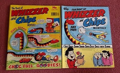 x2 The Best Of Whizzer & Chips Monthly - July 1989 & April 1990
