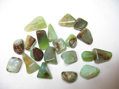Natural Chrysophase Tumblestones x 20 stones