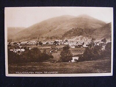 1924 Tillicoultry From Devonside Clackmannanshire Postcard