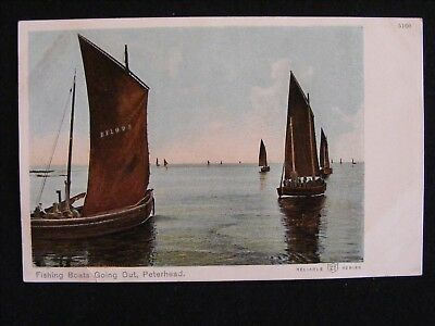 Vintage Fishing Boats Going Out Peterhead Banff Fishing Boat Bf 1095 Lark