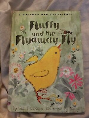 Vintage Whitman Big Tell A Tale Fluffy and Flyaway Fly Childrens - 1966