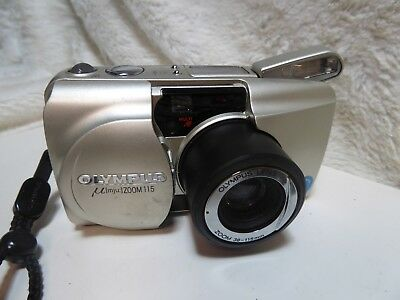 Olympus Mju  Zoom 115  35mm Film Camera 38-115mm fully functional
