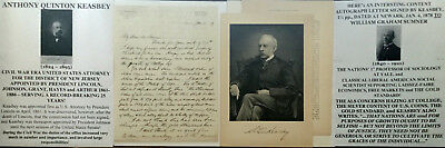 Civil War President Lincoln Us Attorney District New Jersey Letter Signed+Engrv