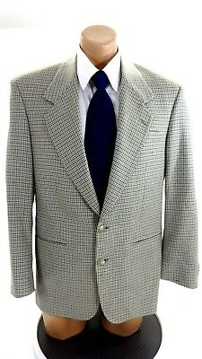 Torriani Mens Olive & Blue Tweed Wool Suit Jacket Sport Coat Size 40R
