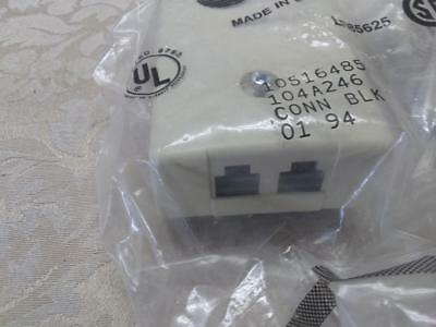 Lot of 5 -AT&T 104A 246 double jack -8 pin- surface mount connecting blocks  NEW