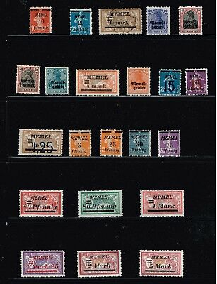 Germany Stamp Memel Stamps Collection Lot