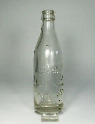 d Vintage CLEAR STRAIGHT SIDED COCA COLA BOTTLE Lincoln NE 7 Oz Embossed Bottom
