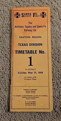 The Atchison, Topeka and Santa Fe Railway Co Time