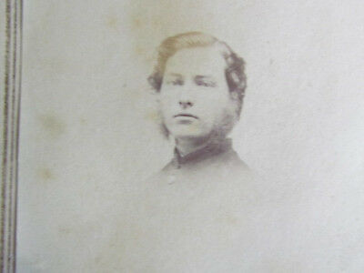 young Hanover New Hampshire Civil War soldier autographed cdv photograph