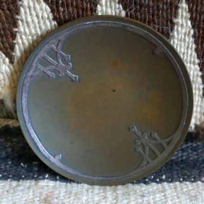 Antique HEINTZ Arts and Craft Copper  and Sterling Bowl- Stamped