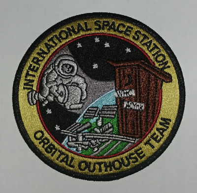 International Space Station Orbital Outhouse Team patch USAF NASA SPACE SHUTTLE