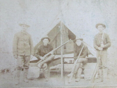 Spanish American War soldiers with rifles in Huntsville Alabama cabinet photo
