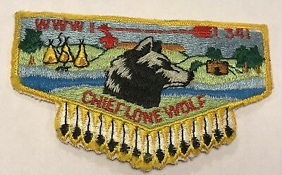 OA Lodge 341 Chief Lone Wolf Flap gold MH7