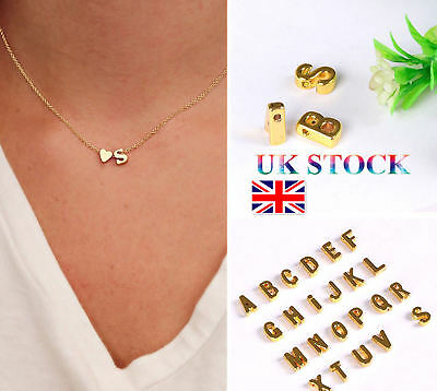 Women Silver/Gold Plated Personalised Initial Letter Chain Necklace Pendant UK