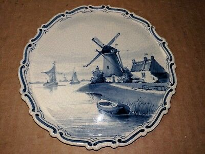 Antique 1890 Royal Delft JOOST THOOFT & LABOUCHERE Plate De Porceleyne Fles