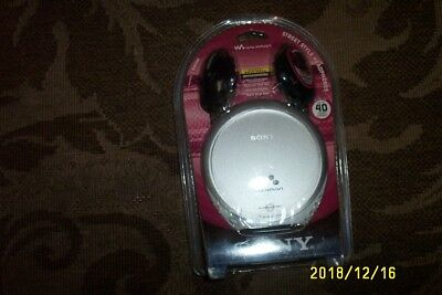 Sony Walkman D-EJ360 Personal Portable CD Player with G-Protection Silver NIB