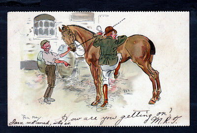 Comic Horse Postcard ...Phil May Artist Signed 1908 ..Pub: By Tuck...#852yb