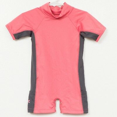 Mountain Sprouts Swim Suit Romper 6-12 Months One Piece Modest RashGuard Girls