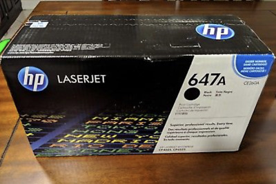 New Genuine Hp Ce260A 647A Black Toner Cartridge Laser Jet | Factory Sealed