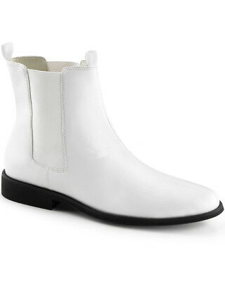 White Trooper Mens Boots
