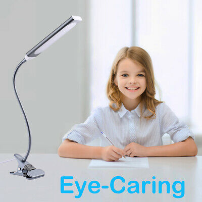 5W LED Light Dimmable Flexible USB Clip-On Desk Table Reading Book Lamp 48LED