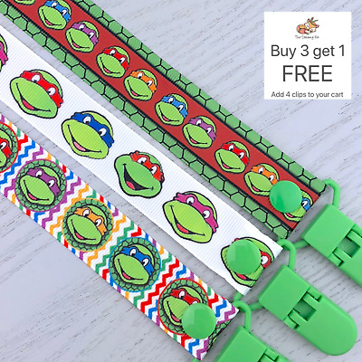 Dummy clip pacifier chain binky dummy soother baby clips gift saver TMNT holder
