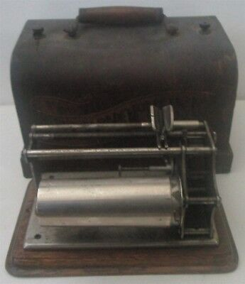 1897 patent Graphophone Cylinder Phonograph, As Is for Parts