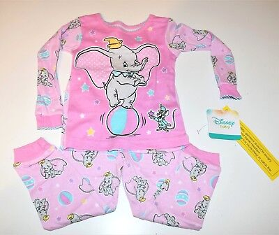 New Disney Dumbo baby toddler girls pajamas 9m 12m 18m 24m