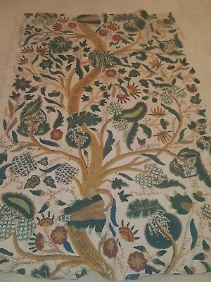 18th or 19thC English Crewelwork Tree of Life Exceedingly Well done/Big GREAT!!!