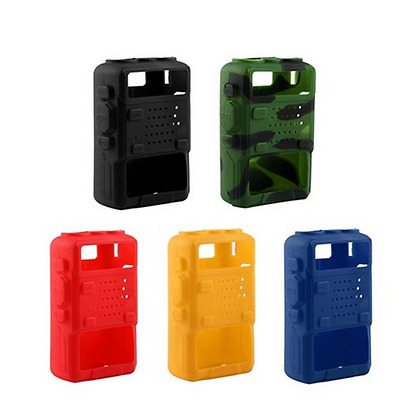 Walkie Talkie Soft Case Silicone Holster Cover for Baofeng UV-5R/A/B/C/D/E Gift