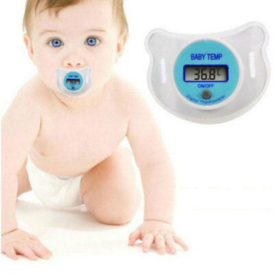 Safety Baby Mouth Pacifier Thermometer LCD Digital Nipple Temperature 2 Colors