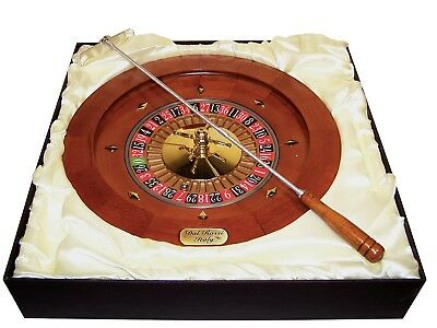 Dal Rossi Italy - Roulette & Rake 13' Wood with a Metal Ball