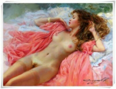 Konstantin Razumov Girl Modern Abstract hand painted Oil Painting Wall No Frame
