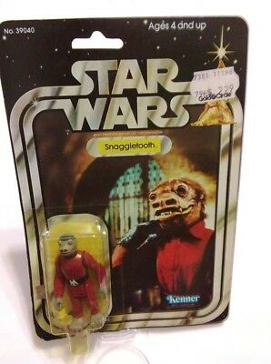 Vintage 1978 Star Wars Snaggletooth 21 Back Opened Card Bubble Figure POP Intact