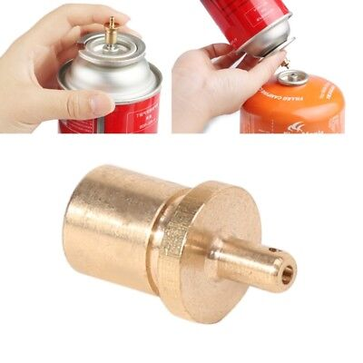 2x Outdoor Camping Stove Copper Gas Refill Adapter - Filling Butane Canister